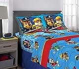 Nickelodeon Paw Patrol Kids Bedding Super Soft Microfiber Sheet Set, 4 Piece Full Size, Blue/Red Design