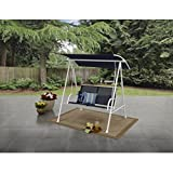 Mainstays Two Person Cushioned Canopy Porch Swing Blue/White