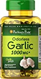 Puritans Pride Odorless Garlic 1000 mg Rapid Release Softgels, 250 Count