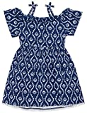 Nautica Toddler Girls' Patterned Sleeveless Dress, Coral Shell deep Navy, 2T