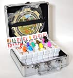 SM NEW Double 12 Mexican Train Dominos Number Chicken Foot w/ Hub Aluminum Case