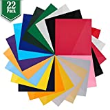 Heat Transfer Vinyl Assorted Colors - 22 Sheets - 12' x 12' - Iron On...