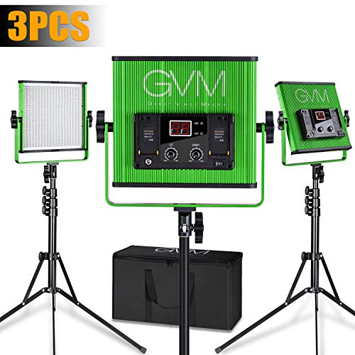 GVM LED Video Light CRI97+ Tlci97+ 18500Lux Dimmable Photographic Lighting, Green (GVM-520LS-G3L)