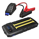 Car Jump Starter RAVPower 300A Peak Current (for All 12V 2.0 L Gas Engines) 8000mAh External Battery Pack Quick Charge Portable Jumper Power Bank Power Pack Car Battery Booster, Built-in Flashlight
