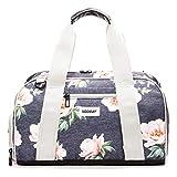 Vooray Burner 16' Compact Gym Bag with Shoe Pocket, Rose Navy