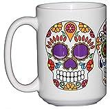 Day of the Dead Sugar Skulls - Dia De Los Muertes - 15oz Large Coffee Mug