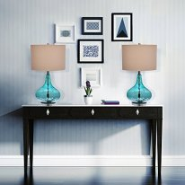 Catalina-Lighting-18578-000-Transitional-Thumbprint-Glass-Gourd-Table-Lamp-255-Classic-Blue