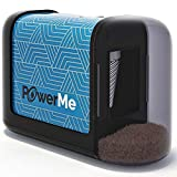 PowerMe Electric Pencil Sharpener - Battery Operated, (No Cord) for Home, Office, School, Artist, Students and more! - Ultra Portable, ideal for No. 2 And Colored Pencils (Drawing, Coloring)