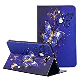 Samsung Galaxy Tab A 10.1 SM-T580 Case, ZAOX Slim Folding Stand Lovely Leather Cover with Card Slots Folio Wallet Case for Galaxy Tab A SM-T580/T585 Tablet 2016 Release 10.1 Inch (Gold Butterfly)