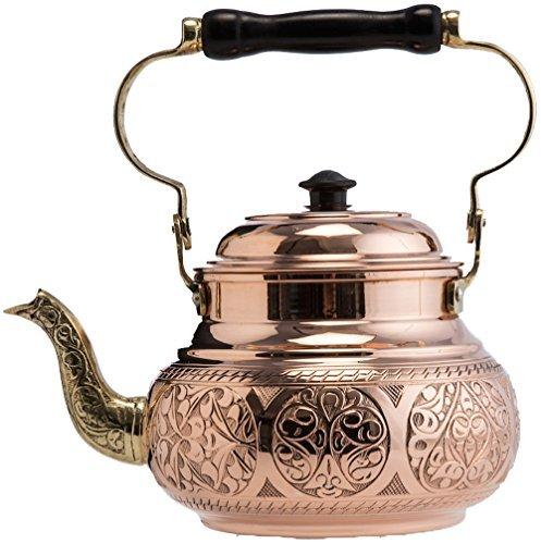 2-Variations-DEMMEX-2017-Hammered-Copper-Tea-Pot-Kettle-Stovetop-Teapot-16-Quart
