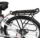 Ibera Bike Rack - Bicycle Touring Carrier with Fender Board, Frame-Mounted for Heavier Top & Side Loads, Height Adjustable for 26'-29' Frames