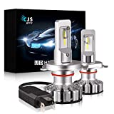 LED Headlight Bulbs H4/9003,10000LM CSP Chips Extremely Bright 6000K (Cool White) All-in-One Anti-Flicker Conversion Kit HID or Halogen Headlight Replacement - 2 Years Warranty