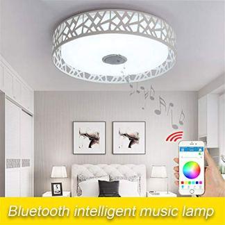 SHELLTB Plafoniera a LED per Musica con Altoparlante Bluetooth, Moderne luci aggiornate con Cambio Colore RGB, Altoparlante di Alta qualità, Controllo Doppio 36W,APPControl