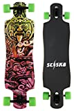 SCSK8 38' Double Drop Down / Drop Through Longboard Bomber Complete