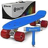 Skatro - Mini Cruiser Skateboard. 22x6inch Retro Style Plastic board Comes Complete. Model: Blue Ocean