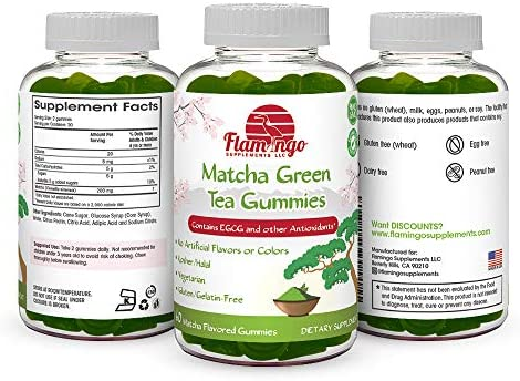 Matcha Green Tea Extract Gummy Vitamin with EGCG. Energy Gummies, Metabolism Booster, Weight Loss & Fat Burner. Vegan Friendly, Gluten-Free, Non-GMO, Kosher and Halal. 60 ct 4
