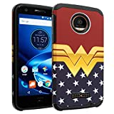 Moto Z PLAY Case, Moto Z PLAY Droid Case, DURARMOR [Drop Protection] Dual Layers Hybrid ShockProof Slim Fit Armor Case Cover for Motorola Moto Z PLAY / Z PLAY Droid - Wonder Woman