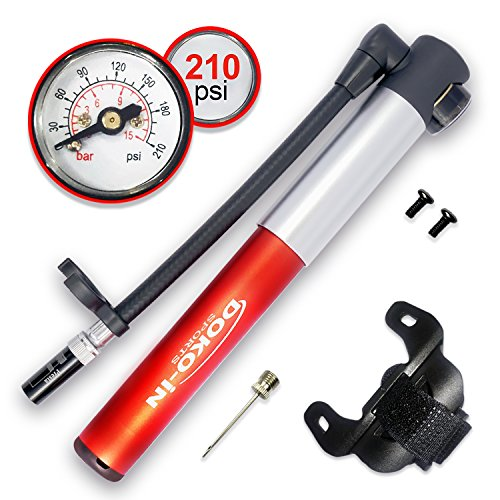 DOKO-IN Mini Bike Pump With Gauge