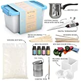 Candle Making Kit - Wax and Accessory DIY Set for The Making of Scented Candles - Easy to Make Colored Candle Soy Wax Kit - Without Batteries