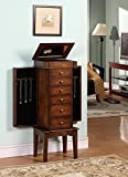 Wildon Home Nathan Elite 6 Drawer Jewelry Armoire