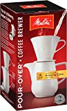 Melitta (640476) 6 Cup Pour-Over Coffee Brewer w/Porcelain Carafe