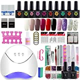 Gelongle 10 Colors Gel Polish Starter Kit 36W LED UV Nail Dryer Curing Lamp Manicure Nail Art Tools