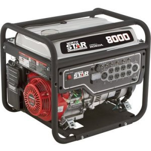 NorthStar Portable Generator – 8,000 Surge Watts, 6,600 Rated Watts, EPA and CARB-Compliant