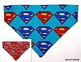 Bell Art Designs Dog Bandana, Superman, Paisley, Reversible, Over The Collar, Medium 781