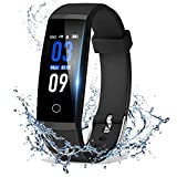 DoSmarter Fitness Tracker, Color Screen Activity Health Tracker with Heart Rate Blood Pressure Monitor, Waterproof Smart Pedometer Watch Band with Step Calories Counter for Kids Woman Man, Black