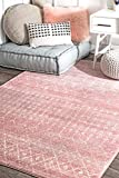 nuLOOM Moroccan Blythe Area Rug, 5' x 7' 5', Pink