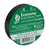 Duck 299006 Utility Vinyl Electrical Tape, 3/4 Inch x 60 Feet (Single Roll), Black