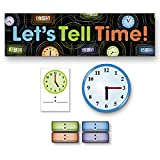 Mini Bulletin Board Set - Clocks and Time - 74 Pieces