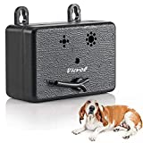 Vicvol Upgrade Mini Bark Control Device, Outdoor Anti Barking Ultrasonic Dog Bark Control Sonic Bark Deterrents Silencer Stop Barking Bark Stop Repeller, No Bark Tool