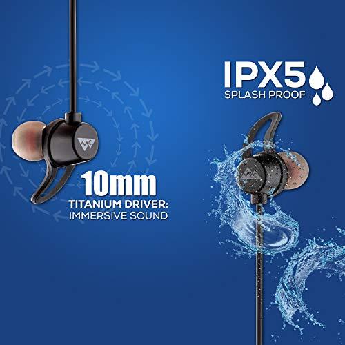 51ksTQhDmwL WeCool N1 Bluetooth Headphones with Dynamic Drivers for Immersive Music Expertise, IPX5 Sweatproof, 12 Hours Playtime, Versatile Neckband Earphones (Black)
