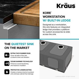 KRAUS-KWU112-33-Kore-Workstation-33-inch-Undermount-16-Gauge-Double-Bowl-Stainless-Steel-Kitchen-Sink-with-Integrated-Ledge-and-Accessories-Pack-of-8