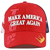 "The Hat Depot Exclusive Donald Trump 2020""Keep America Great/Make America Great Again 3D Cap (Mesh - MAGA - Red)"
