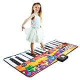 Joyin Toy 71' Gigantic Keyboard Playmat Piano Play Mat Kids Electronic Music Playmat Colorful Dance Mat-24 Keys with Record, Playback, Demo, Play, Adjustable Vol. Mode