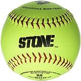 DeMarini Stone ASA Series Synthetic Leather Softball (12-Pack), 12-Inch, Optic Yellow