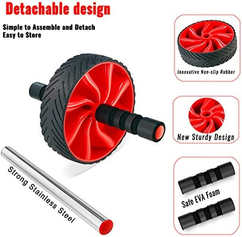 N1Fit Ab Roller Wheel - Sturdy Ab Workout Equipment for Core Workout - Ab Exercise Equipment as Abdominal Muscle Toner - Ab Exercise Equipment Used as at Home Workout Equipment for Both Men & Women 6