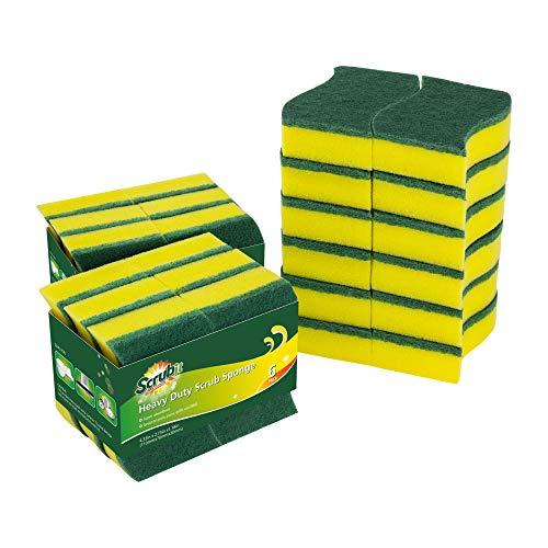 24-unidades-esponjas-de-limpieza-resistentes-por-SCRUBIT--Esponja-de-limpieza-para-fregaderos-y-banos--con-almohadilla-de-limpieza-antiolor