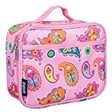 Wildkin Lunch Box, Insulated, Moisture Resistant, and Easy to Clean with Helpful Extras for Quick and Simple Organization, Ages 3+, Perfect for Kids or On-The-Go Parents, Olive Kids Design – Paisley