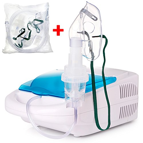 TTstar Compressor System Personal Cool Mist Inhaler kit for Adults and Children with 1 Set Accessories Kit, 5 Replacement Filters