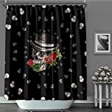 Shower Curtain MACOFE 3D Shower Curtain Colorful Shower Curtain Polyester Fabric, Waterproof, Machine Washable,Hooks Included,Lake Shower Curtain Original Design Hand Drawing,71x71in …