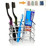 Redbean Toothbrush Holder,Stainless Steel Bathroom Toothpaste Holder (Small)