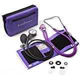 Aneroid Sphygmomanometer and Dual Head Stethoscope, LotFancy Manual Blood Pressure Monitor, Adult Cuff (10-16')