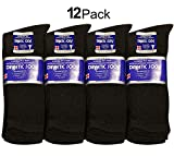 Diabetic Socks Men Unisex Size 10-13 Black 63-2040-12PAIRS