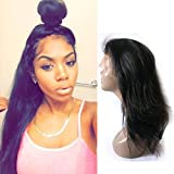 Fanshow Hair Pre Plucked 360 Lace Wig Straight Brazilian Virgin Hair 360 Lace Frontal Wig with Baby Hair 180 Density (18')