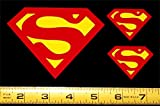 Superman Symbol - Set of 3 HQ 2 Color Yellow on Red Vinyl Sticker Decals!