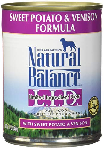 Natural Balance Limited Ingredient Diets Sweet Potato & Venison Formula Wet Dog Food, 13 Ounces (Pack of 12)