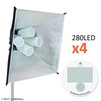 Linco Lincostore Flora X LED 1120 Super Bright Photography Light for Photo,Film,and Video Studio Lighting kit AM180